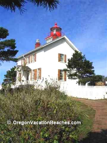 Yaquina Bay Lighthouse + attached Caretakers home - Newport, OR