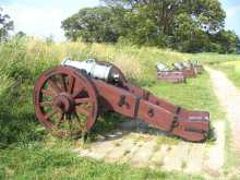near Virginia Beaches Attraction - Yorktown Battlefield Cannons