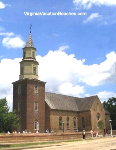 Historic Bruton Parish Church - Popular Colonial Williamsburg Attraction - Virginia