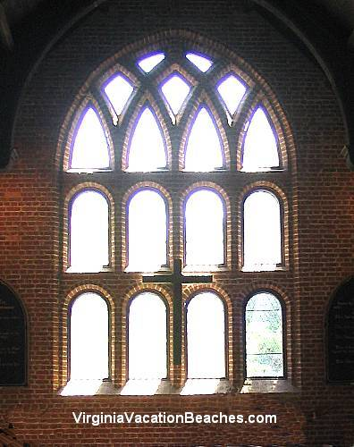 Jamestown Historic Site Light through Church Window - Virginia