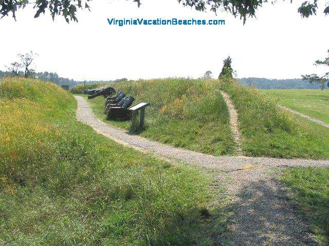 Yorktown Battlefield Cannons - Popular Virginia Vacation Attraction