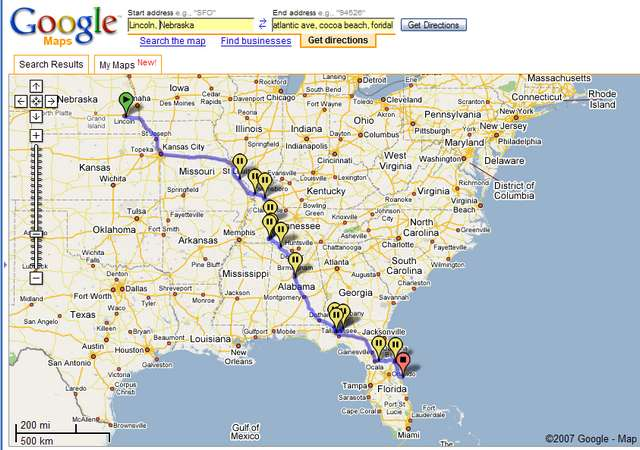 Google Map Southeastern Us - Road map southeast us
